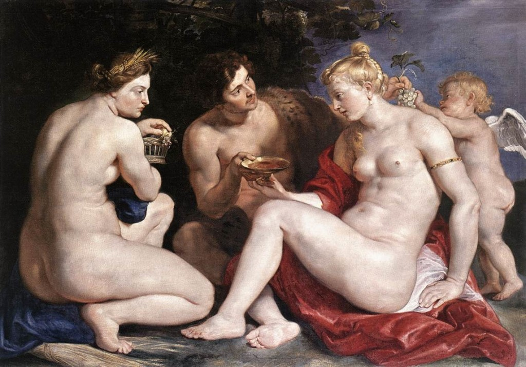 Venus, Cupid, Baccchus e Ceres